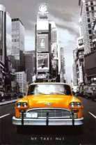 Картина по номерам 40x50 Такси Нью-Йорка