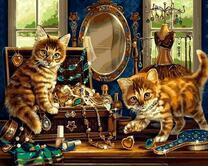 Котята в будуаре