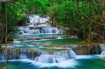 Картина по номерам 40x50 Каскадный водопад