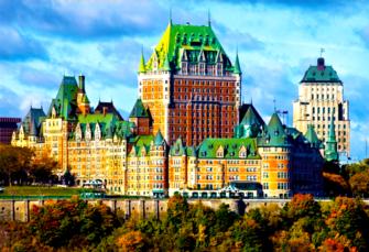 Картина по номерам 40x50 Замок Фронтенак в Канаде