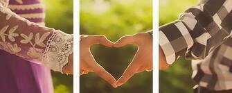 Триптих по номерам 40x50x3 Любовь