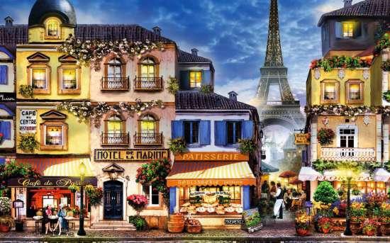 Картина по номерам 40x50 Сердце Парижа