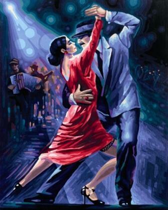 Картина по номерам 30x40 Горячее танго в клубе