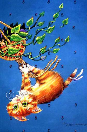 Картина по номерам 40x50 Котенок на канате