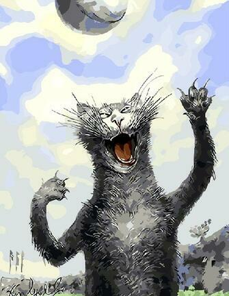 Картина по номерам 40x50 Игривый кот
