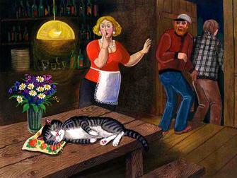 Картина по номерам 40x50 Спящий кот