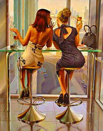 Картина по номерам 40x50 Дамы выпивают