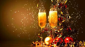 Картина по номерам 40x50 Бокалы шампанского