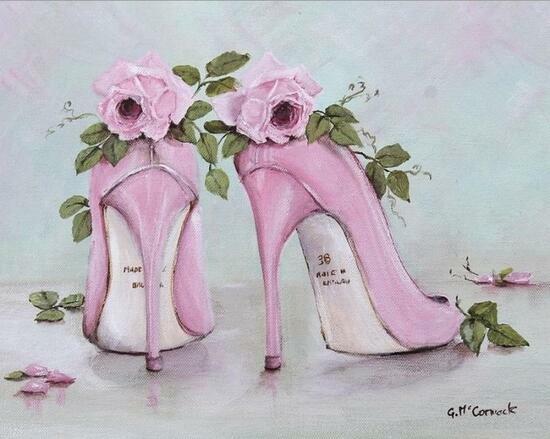 Картина по номерам 40x50 Розовые туфли