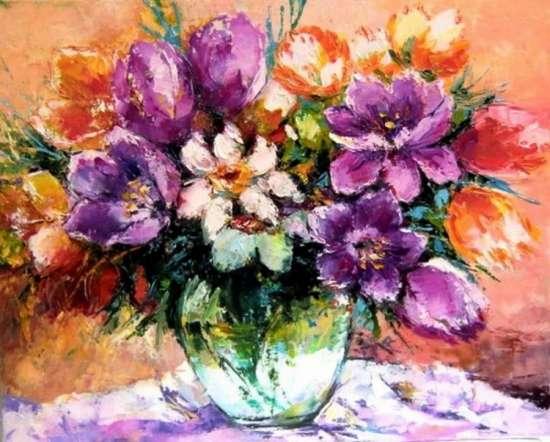 Картина по номерам 40x50 Букет цветов
