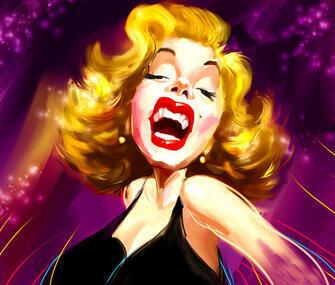 Картина по номерам 40x50 Карикатура на Мэрилин Монро