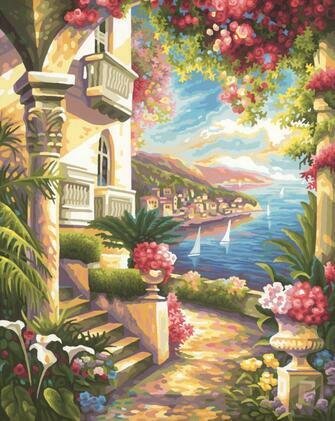 Картина по номерам 40x50 Вид с дворца