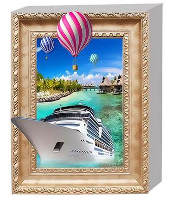 3Д Раскраска по номерам 40x50 Круизный лайнер и воздушные шары