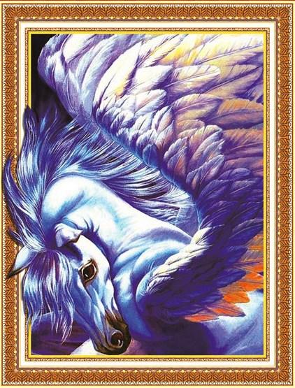 Алмазная мозаика 3D 40x50 Синий пегас