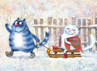 Картина по номерам 40x50 Зимние котозабавы