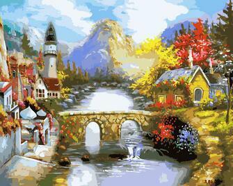Картина по номерам 40x50 С горы течет река
