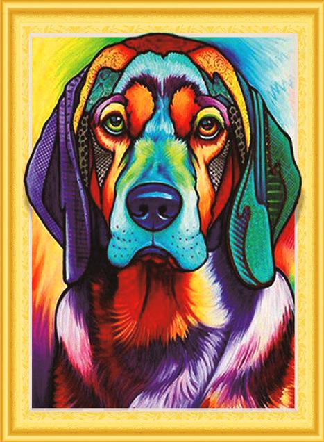 Алмазная мозаика 5D 40x50 Грустный пёс