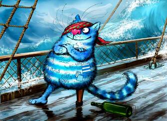Картина по номерам 40x50 Синий кот