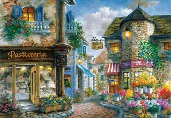 Картина по номерам 40x50 Кондитерская