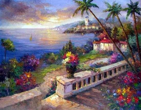 Картина по номерам 40x50 Радужный берег