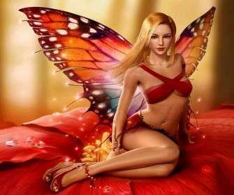 Картина по номерам 40x50 Женщина бабочка