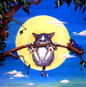 Картина по номерам 40x50 Котик на дереве