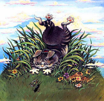 Картина по номерам 40x50 Весёлые кошки