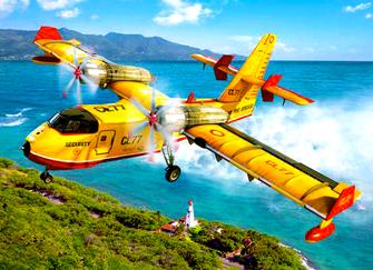 Картина по номерам 40x50 Пожарный самолет