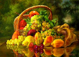 Картина по номерам 40x50 Гора фруктов