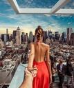 Картина по номерам 40x50 С крыши Нью-Йорка