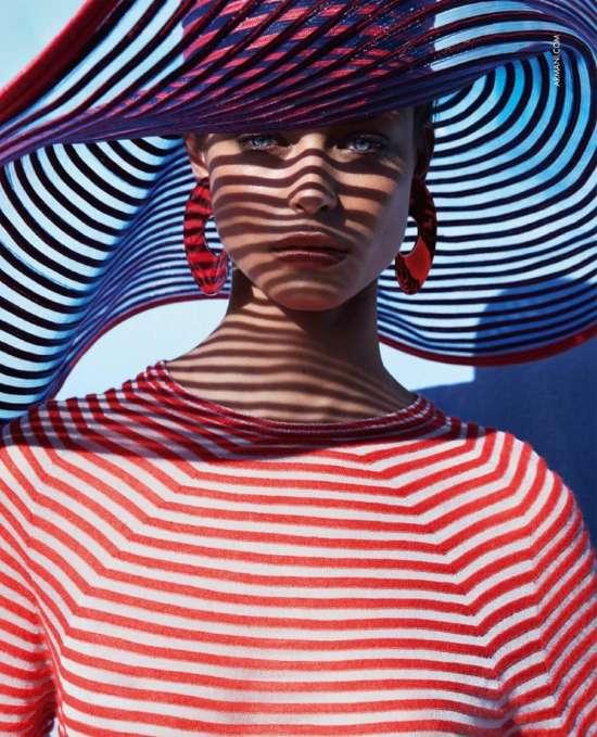 Картина по номерам 40x50 Роковая женщина и ажурная шляпа