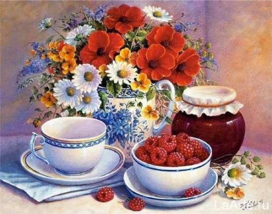 Картина по номерам 40x50 Малиновое варенье
