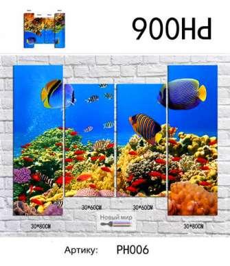 Модульная картина Красоты подводного мира