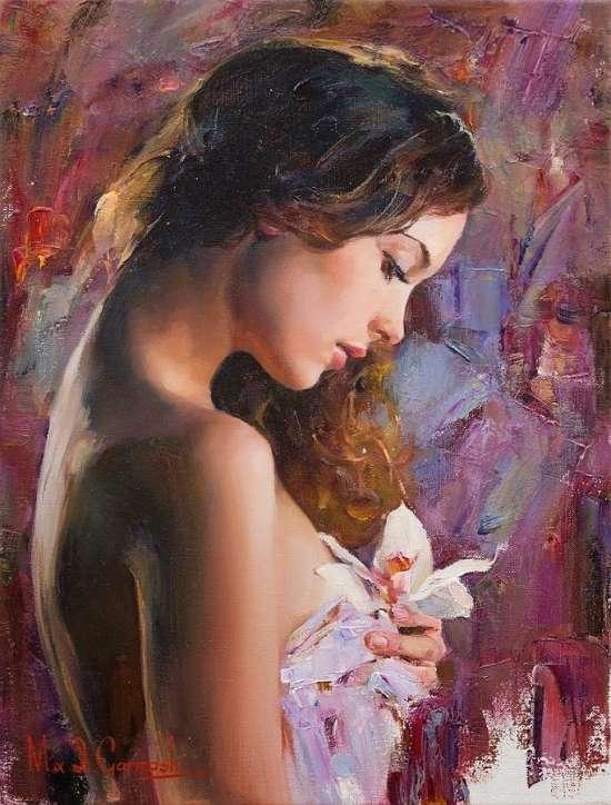 Картина по номерам 40x50 Нежность и красота