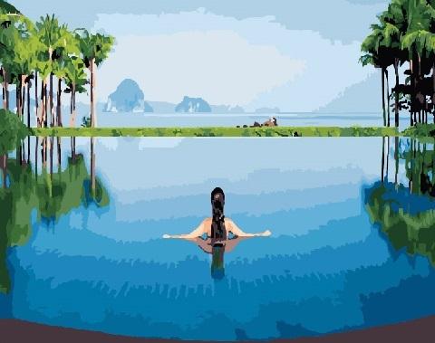 Картина по номерам 40x50 Купальщица в озере