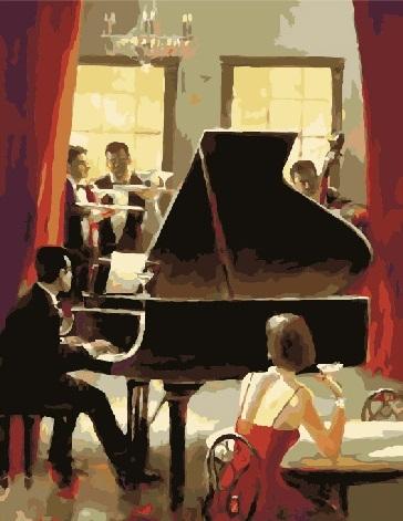 Картина по номерам 40x50 Официальный прием с живой музыкой