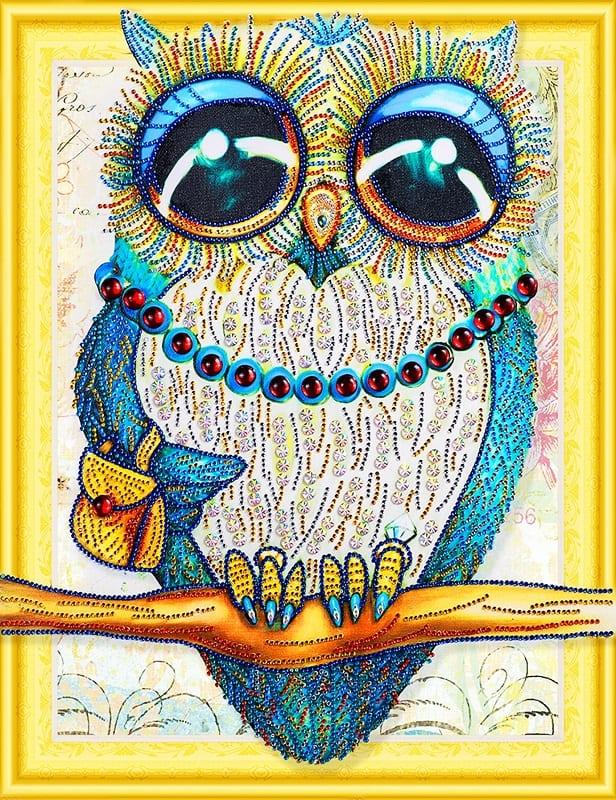 Модница-сова с большими глазами 40х50