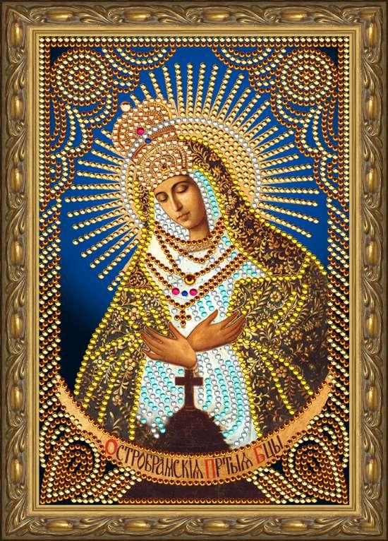 Алмазная мозаика 20x30 Остробрамская икона Божией Матери