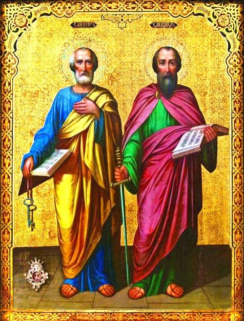 Алмазная мозаика 40x50 Апостолы Петр и Павел
