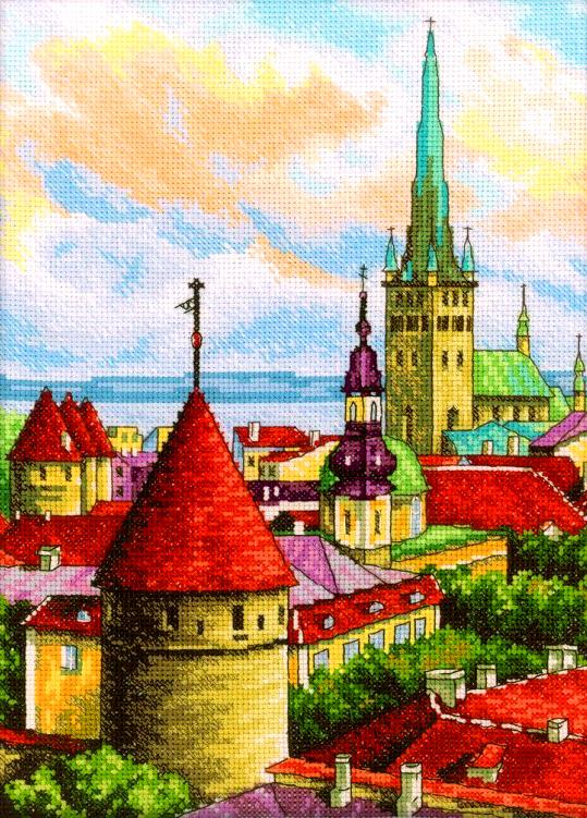 Алмазная мозаика 40x50 Город с высоты птичьего полета