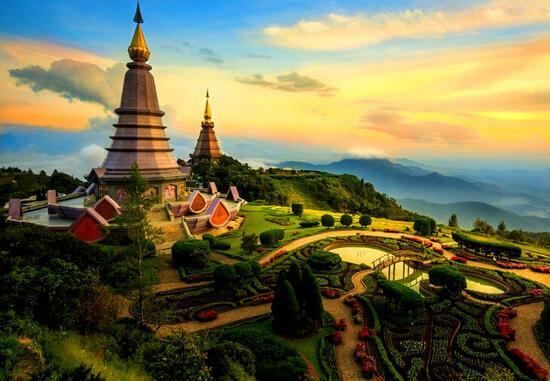 Алмазная мозаика 40x50 Чиангмай - город в Таиланде