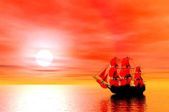 Картина по номерам 40x50 Алые паруса надежды