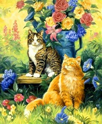 Купить коты и розы за 890 руб. в Москве