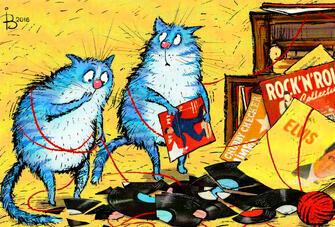 Картина по номерам 40x50 Коты-меломаны