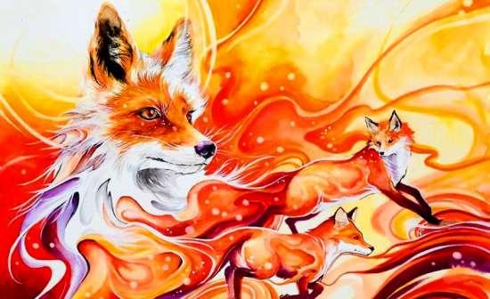 Картина по номерам 40x50 Рыжая лиса