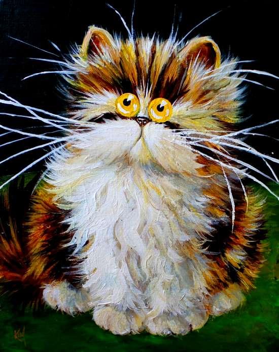 Картина по номерам 40x50 Пугливый котенок