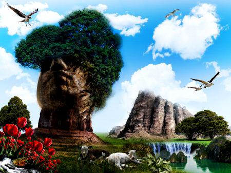 Картина по номерам 40x50 Гора олицетворяющая человека