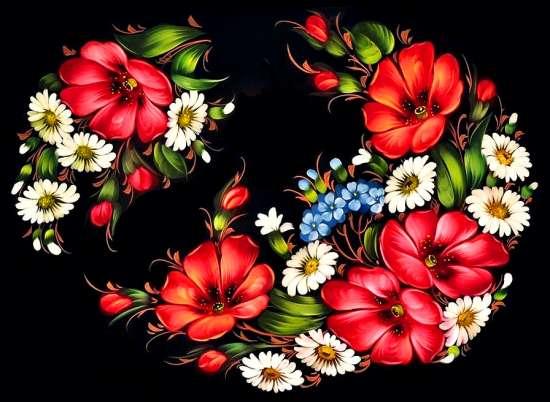 Картина по номерам 40x50 Цветочный венок