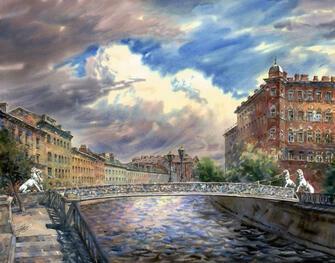 Картина по номерам 40x50 Тучи над Петербургом