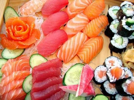 Картина по номерам 40x50 Сет из суши